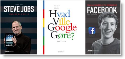 Gratis lydbøger: Steve Jobs, Google og Facebook