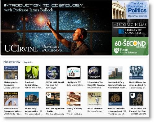 Nu også top-300 liste over gratis undervisningsmaterialer fra iTunes U